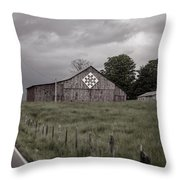 Rain Rolling In Throw Pillow by Heather Applegate