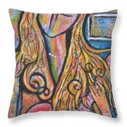 Rain Song Throw Pillow by Chaline Ouellet