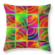 Rainbow Bliss 3 - Over the Rainbow V Throw Pillow by Andee Design