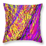 Rainbow Divine Fire Light Throw Pillow by Daina White