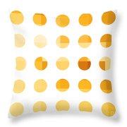 Rainbow Dots Orange Throw Pillow by Pixel Chimp