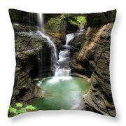 Rainbow Falls Throw Pillow by Lori Deiter