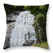 Rainbow Falls Throw Pillow by Susan Leggett