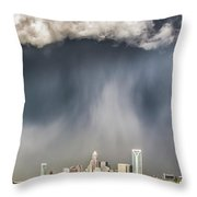 Rainbow Over Charlotte Throw Pillow by Chris Austin