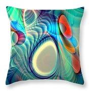 Rainbow Play Throw Pillow by Anastasiya Malakhova