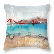 Rainy Day In San Francisco  Throw Pillow by Linda Woods