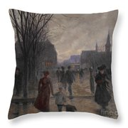 Rainy Evening On Hennepin Avenue Throw Pillow by Robert Koehler