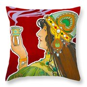 Rajah Throw Pillow by Henri Pivat Livemont