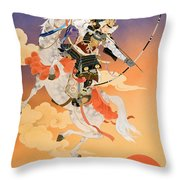 Rakujitsu Throw Pillow by Haruyo Morita