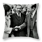 Rallying Support Throw Pillow by Benjamin Yeager