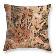 Ram Desert Transjordanian Plateau Jordan Throw Pillow by Anonymous