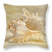 Ram's Murex Throw Pillow by Cindi Ressler