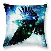 Raven Throw Pillow by Anastasiya Malakhova