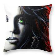 'Raven Vixon' Throw Pillow by Christian Chapman Art