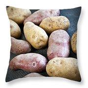 Raw Potatoes Throw Pillow by Elena Elisseeva