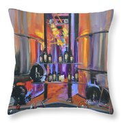 Raymond Vineyards Crystal Cellar II Throw Pillow by Donna Tuten