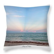 Rays Of Hope Throw Pillow by Michelle Wiarda