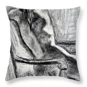Reaching Out Throw Pillow by Kendall Kessler