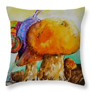 Reaching The Summit Throw Pillow by Beverley Harper Tinsley