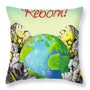 Reborn Throw Pillow by Anthony Mwangi
