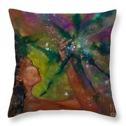 Recapturing Her Soul Throw Pillow by Ilisa  Millermoon