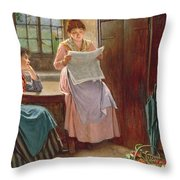 Recent News Throw Pillow by Haynes King