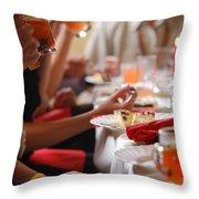Reception Throw Pillow by Michal Bednarek