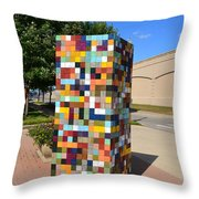 Reconstructing Fences Throw Pillow by Michelle Calkins