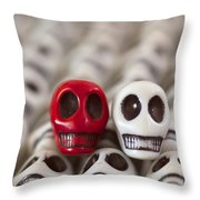 Red And White Throw Pillow by Mike Herdering