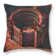 Red Arena Throw Pillow by Mark Howard Jones