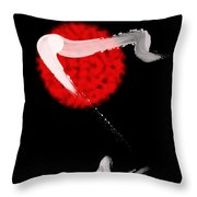 Red Bull Throw Pillow by Cheryl Young