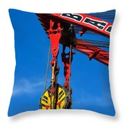 Red Crane - Photography By William Patrick And Sharon Cummings Throw Pillow by Sharon Cummings
