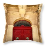 Red Door Throw Pillow by Maria Coulson
