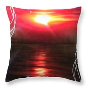 'red Earth' Throw Pillow by Christian Chapman Art