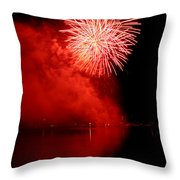 Red Fire Throw Pillow by Martin Capek