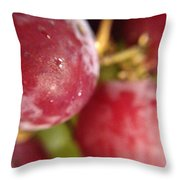 Red Grapes Throw Pillow by Marian Palucci