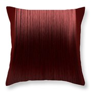 Red Hair Perfect Straight Throw Pillow by Allan Swart