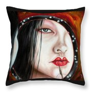Red Throw Pillow by Hiroko Sakai