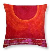Red Kachina Original Painting Throw Pillow by Sol Luckman