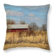 Red Kentucky Relic Throw Pillow by Paulette B Wright
