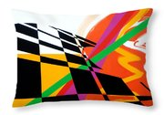Red Movement Throw Pillow by Jean Pierre Rousselet