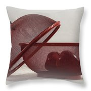 Red Red Apples Throw Pillow by Judy Hall-Folde