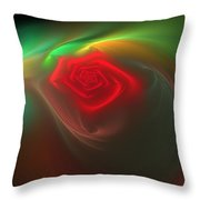Red Red Rose Throw Pillow by Svetlana Nikolova