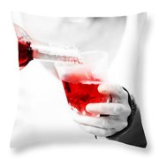 Red Red Wine Throw Pillow by Jenny Rainbow