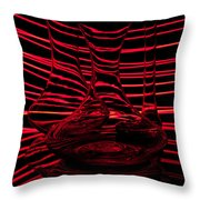 Red Rhythm IIi Throw Pillow by Davorin Mance