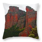Red Rock face Throw Pillow by John Stuart Webbstock