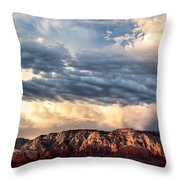 Red Rocks Of Sedona Throw Pillow by Dave Bowman