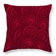 Red Swirls Throw Pillow by Frank Tschakert