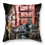 Red Train Throw Pillow by Todd and candice Dailey