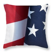 Red White And Blue Throw Pillow by Laurel Powell